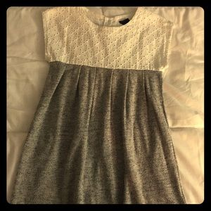 Baby GAP White and gray cotton dress